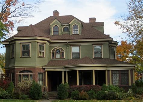 green house paint olive green exterior painted homes across prospect
