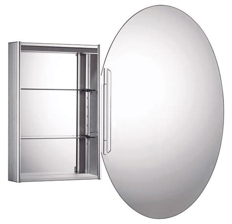 oval mirror medicine cabinet wholi whitehaus oval double faced mirrored door medicine