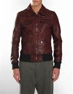 Leather Jacket D G Men S Maroon Leather Jacket S Fashion