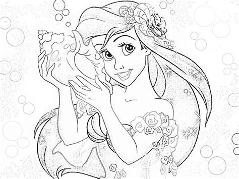 disney princess coloring pages ariel disney coloring