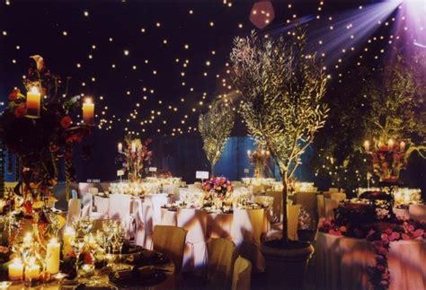 inspiration for an evening rustic wedding garden theme