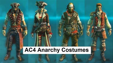 ac4 multiplayer anarchy costumes huntsman puppeteer duellist navigator shaman siren lady black