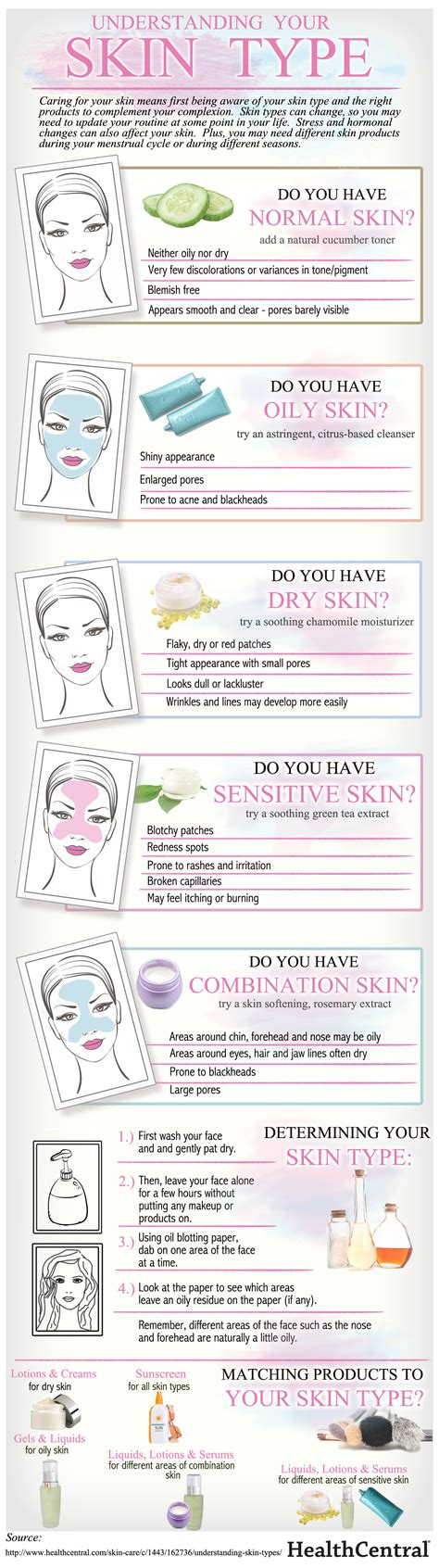 skin types what is your skin type infographics graphs net