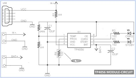 usb battery charger circuit diagram tp4056 micro usb battery charger circuit diagram