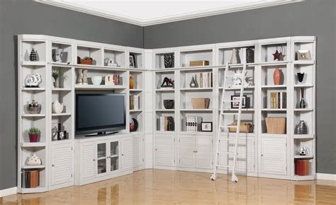tv bookcase wall unit the boca library wall unit for 56 quot tv