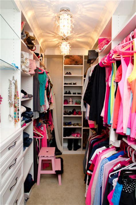 Girly Closets by Girly Walk In Closet Traditional Closet Cincinnati By California Closets Of Cincinnati