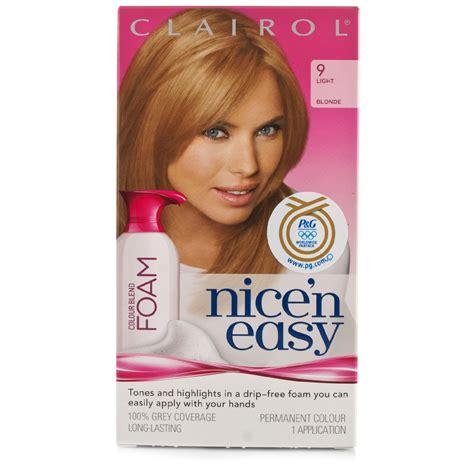 foam hair color clairol nice n easy your source for clairol nice n easy foam permanent color light blonde