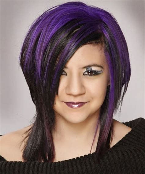 hairstyles purple highlights black hair with purple highlights hair style hair