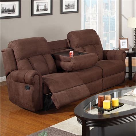 reclining sofa with cup holders sofa with cup holders media room sofa cupholders theater