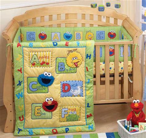 Sesame Street A Is For Apples 3 Pc Baby Crib Bedding Set Sesame Crib Bedding Sets