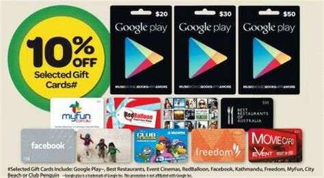 Facebook Gift Cards On Sale - psa google play gift cards on sale at woolworths from the 9th of april ausdroid