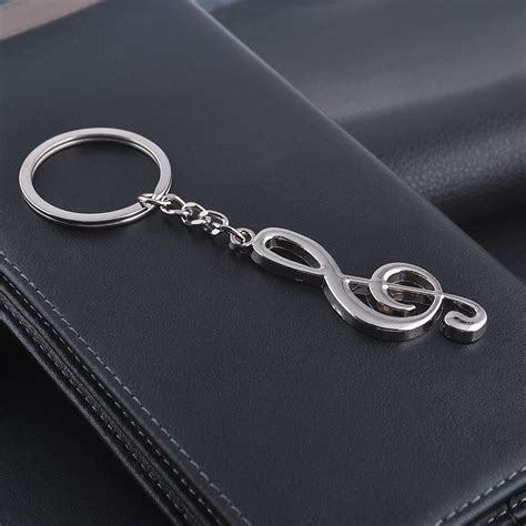 Key Chain wholesale silver plated musical note key chain for car