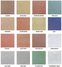 concrete stain colors for patios water based concrete stain color chart