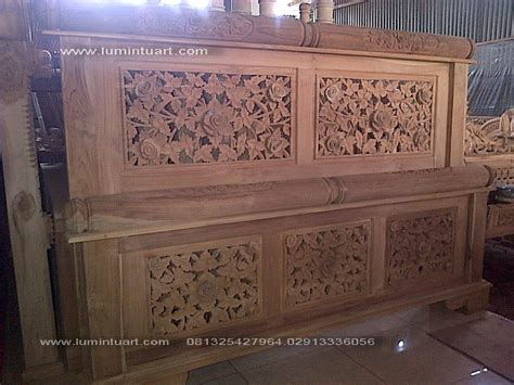 Tempat Tidurranjang Versace Readystock tempat tidur dipan ranjang peluru ukiran kayu jati jepara ud lumintu gallery furniture