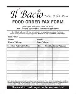 Food Order Form Template order form templates 25 free word excel pdf documents
