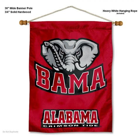 alabama crimson tide bama wall banner  alabama crimson