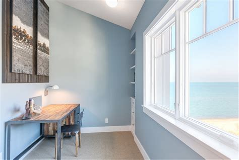 Benjamin Moore Calm Paint by Shingle Beachfront Home With Casual Coastal Interiors