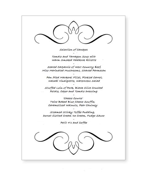 3 course menu template 3 course menu template 28 images search results for 3
