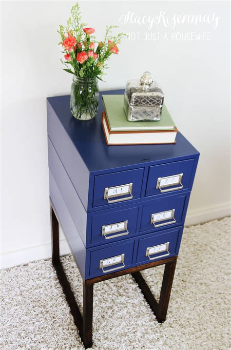 turning a card catalog into a side table stacy risenmay