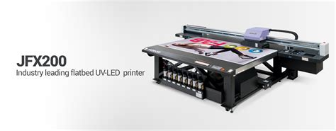 Printer Uv Mimaki wide format flatbed uv printer jfx200 2513 mimaki usa