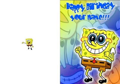 Spongebob Birthday Card Personalised Spongebob Squarepants Birthday Card Ebay