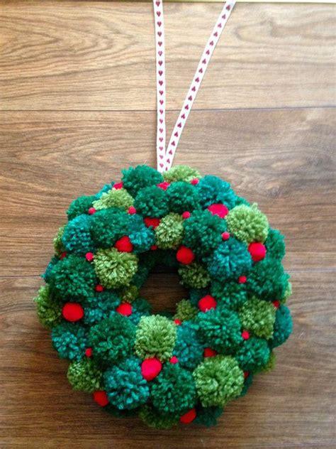 ideas  pom pom wreath  pinterest wreaths pom pom garland  pom poms