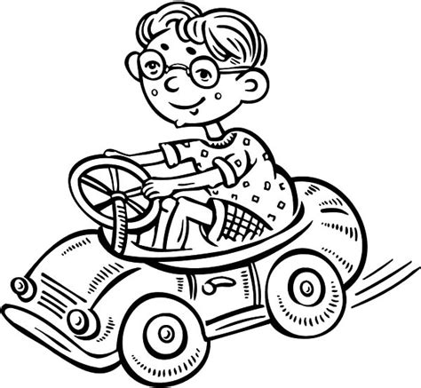 car driving coloring page free coloring pages of boy driving car