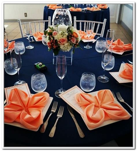 navy blue and coral wedding decorations ricky ribe