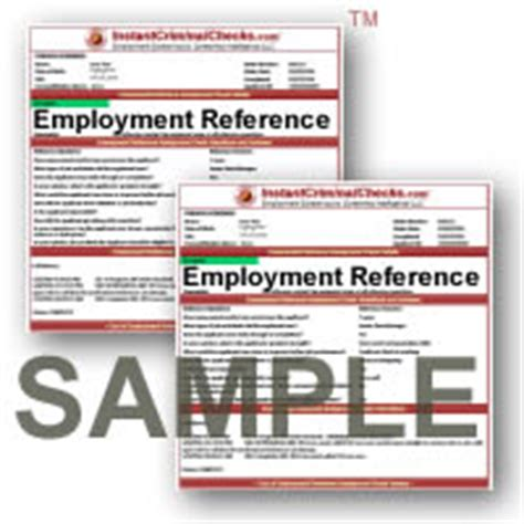 Criminal Reference Check Employment Reference Check Reference Service