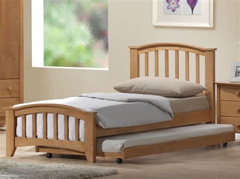 wood single bed with trundle loft bed design exclusive