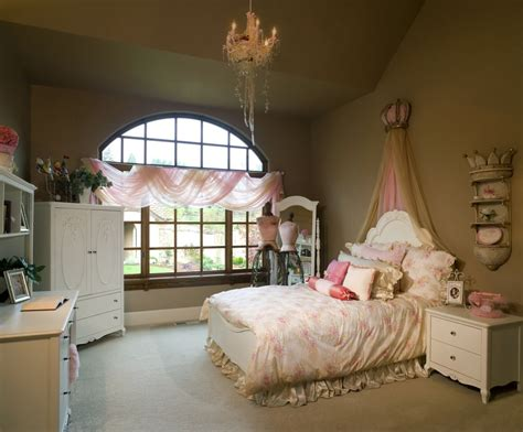 brown bedroom fit for a princess
