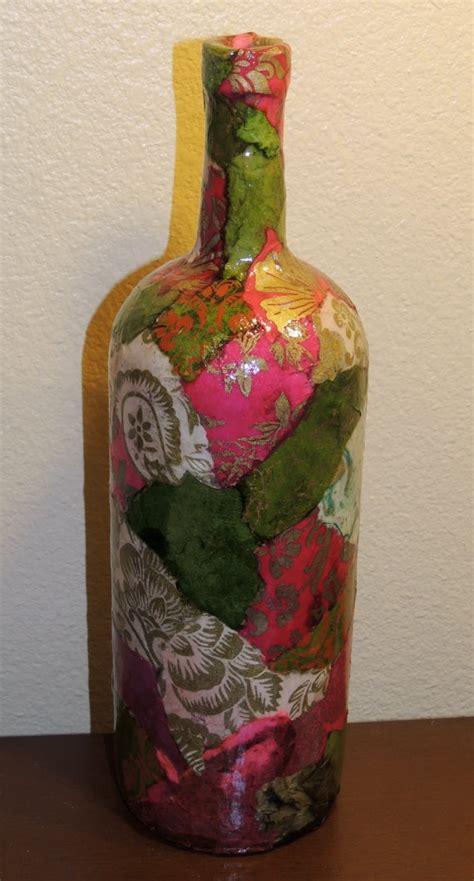 decoupage wine bottles custom listing for susie lokta paper decoupage on large