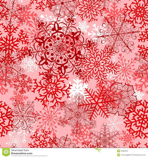 christmas seamless pattern  red snowflakes royalty  stock photo image