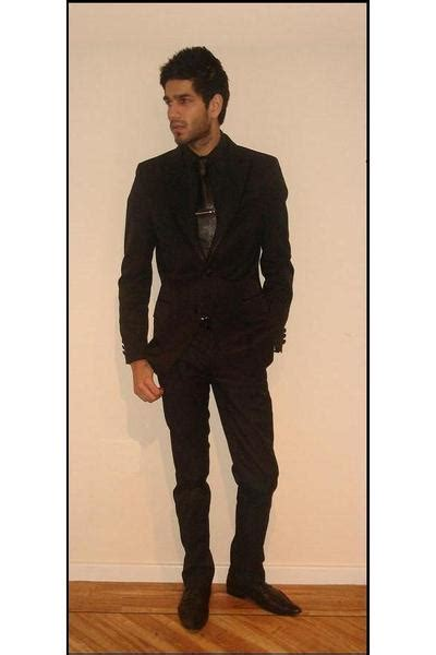 s black shoes black suits black shirts black belts