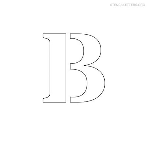 small printable letters free 8 best images of printable letter stencil b free
