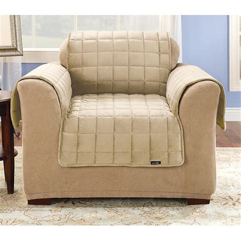 Furniture Chair Covers Deluxe Quilted Velvet Furniture Cover 221299 Furniture