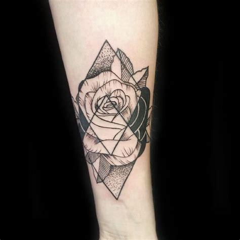 tattoo geometric thigh best 25 geometric rose tattoo ideas on pinterest