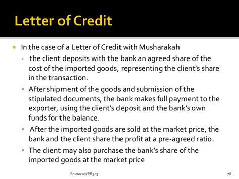 Musharakah Letter Of Credit chapter 6 islamic banking 2