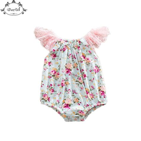 toddler romper pattern baby girl ruffle sleeve romper sunsuit floral bubble