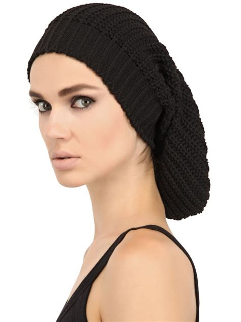Rik Black lyst rick owens oversize skull cap in black for