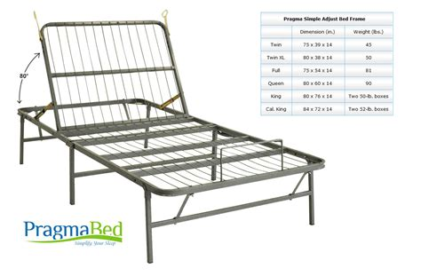 Mechanical Bed Frames Light Weight Adjustable Metal Bed Frame