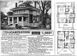 American Foursquare House Plans American Foursquare Floor Plans Sears The Castleton