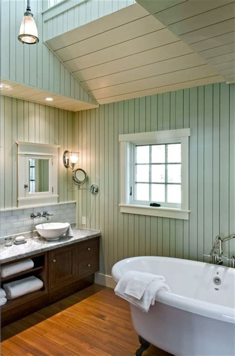 Bathroom Update Ideas by Knotty To Nice Painted Wood Paneling Lightens A Room S Look