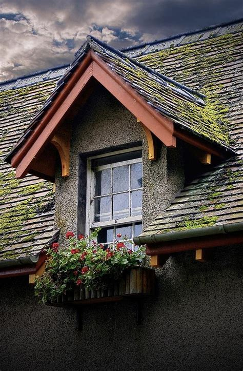 Box Dormer Window Dormer Window Flower Box In Scotland Photograph By Henry