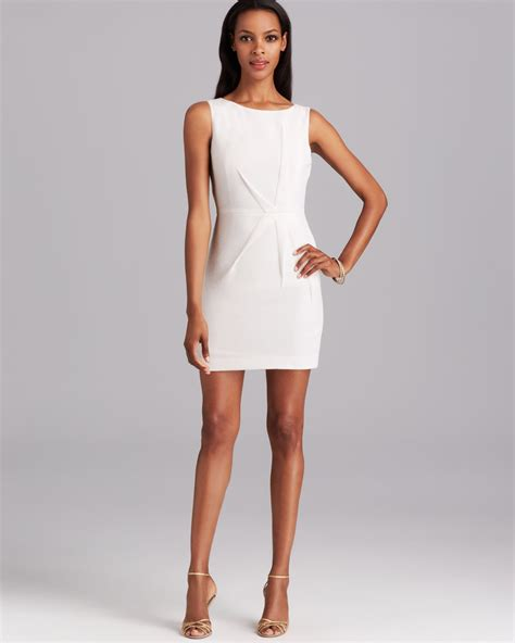 Mini Dress White Nerima black halo dress hawk pebble sleeveless crepe sheath mini in white lyst