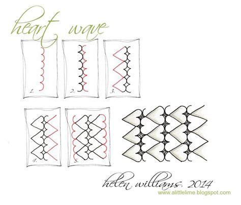 zentangle pattern ideas step by step heart wave step by step zentangle pattern zentangle