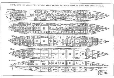 titanic floor plan on the deck titanic