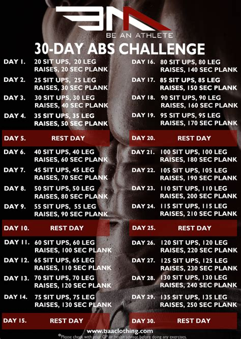 30 day mens ab challenge the be an athlete 30 day abs challenge be an athlete