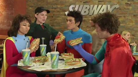 subway commercial actress guacamole subway chipotle chicken melt tv commercial superheroes