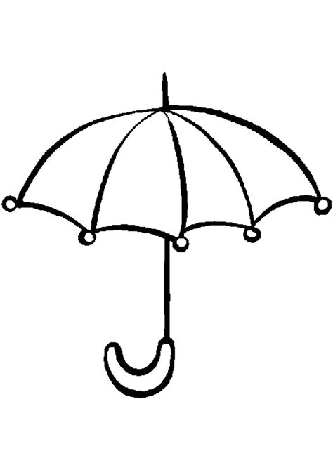 coloring for umbrella coloring pages for childrens printable for free